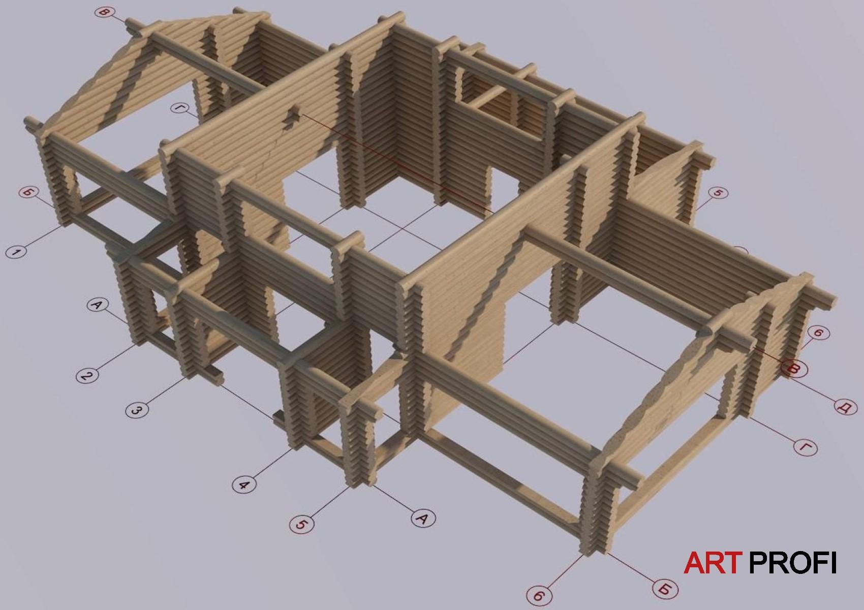Строительство домов. Проект дома из сруба.