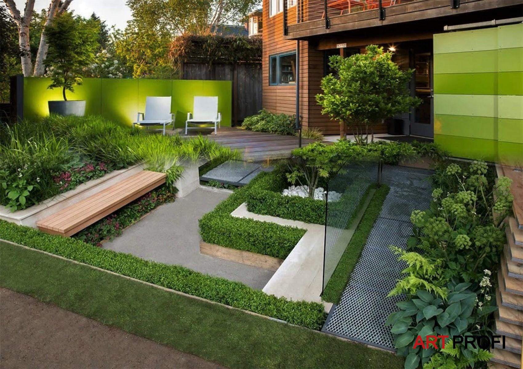 Ландшафтный дизайн . Уютный дворик.
