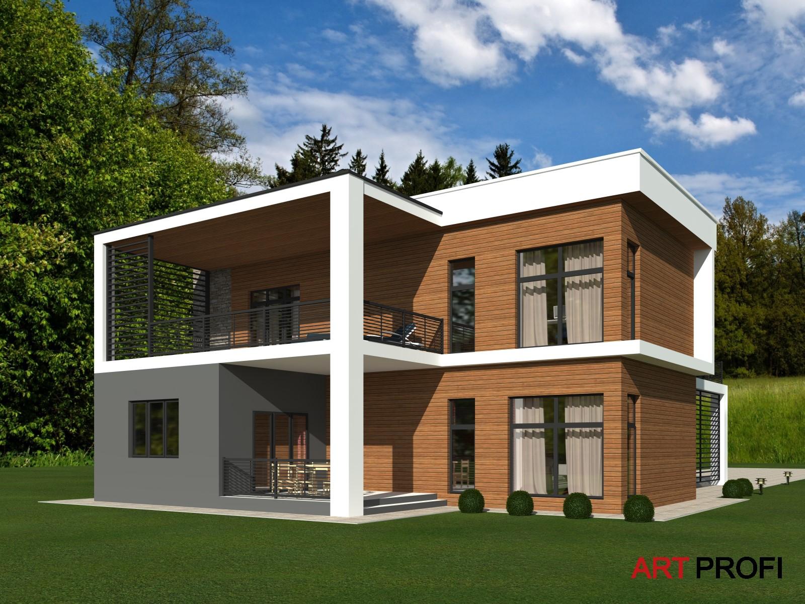 Проекты домов и коттеджей. Дом в стиле Хай-тек.