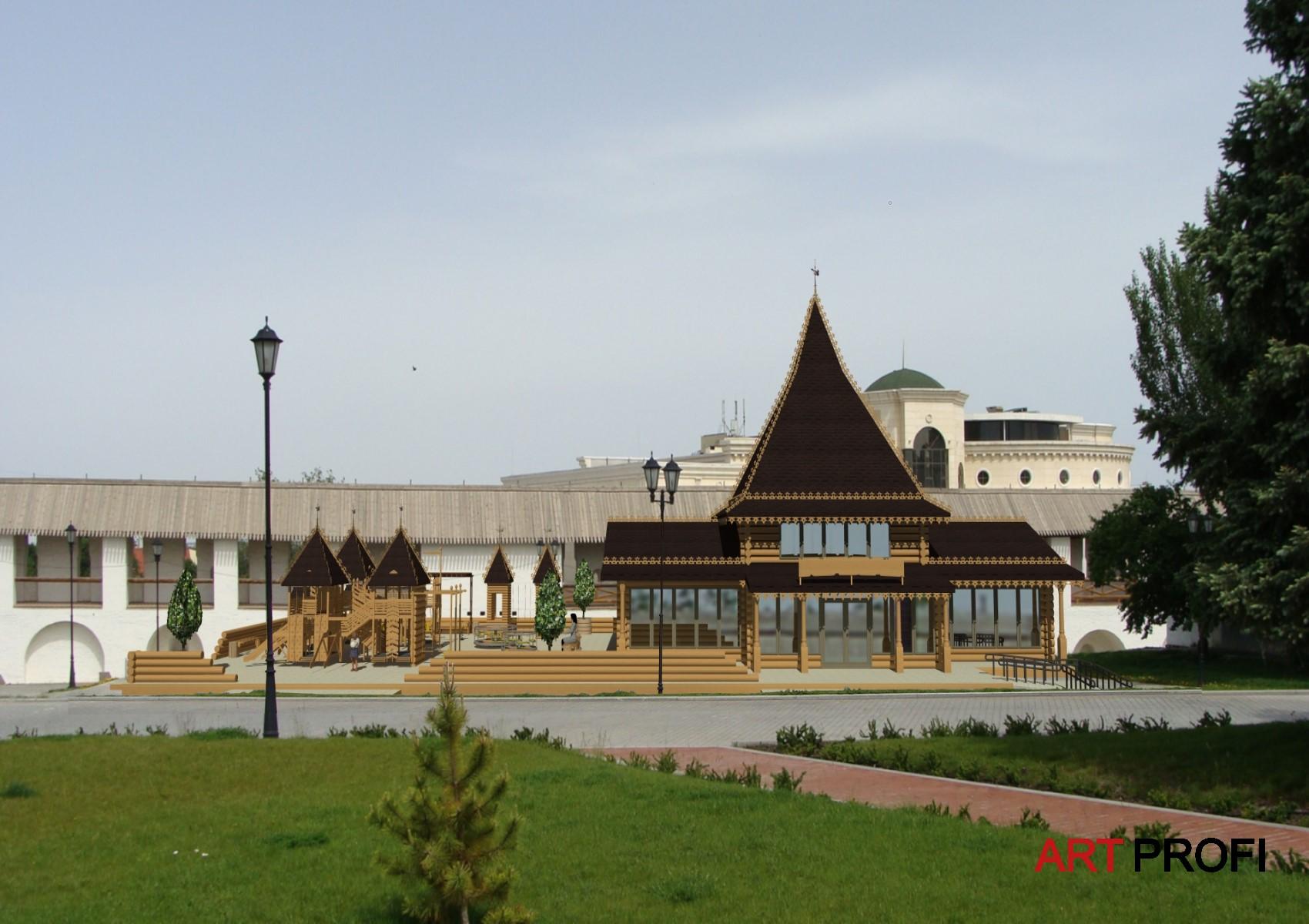 Строительство домов. Проект Астраханского Кремля.