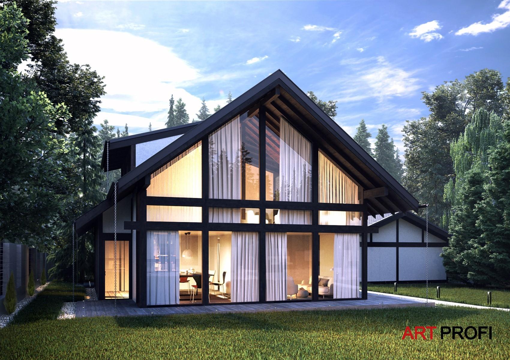 Проекты домов и коттеджей. Дом в стиле фахверк.