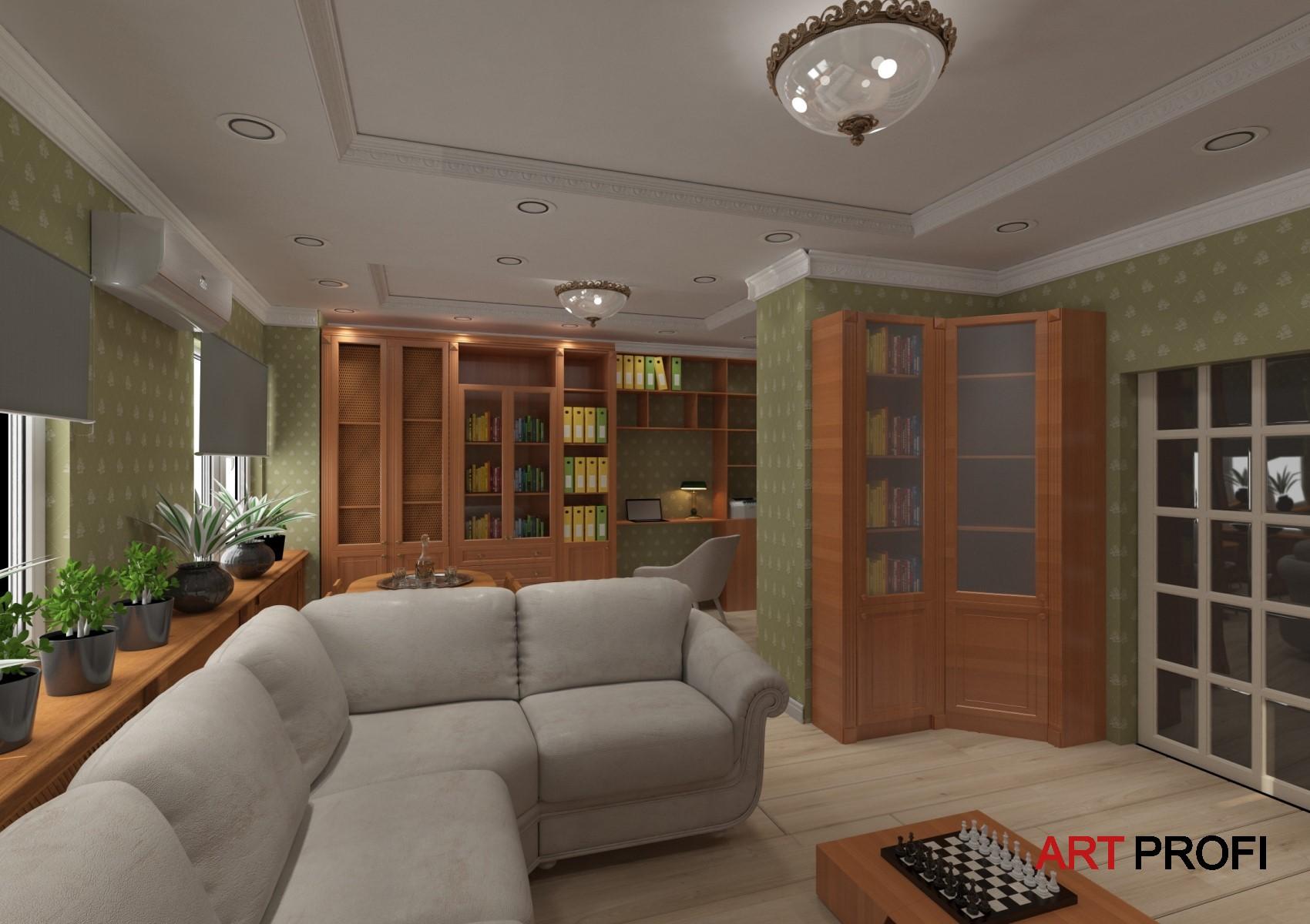 Ремонт квартир. Картинка будущей гостинной.