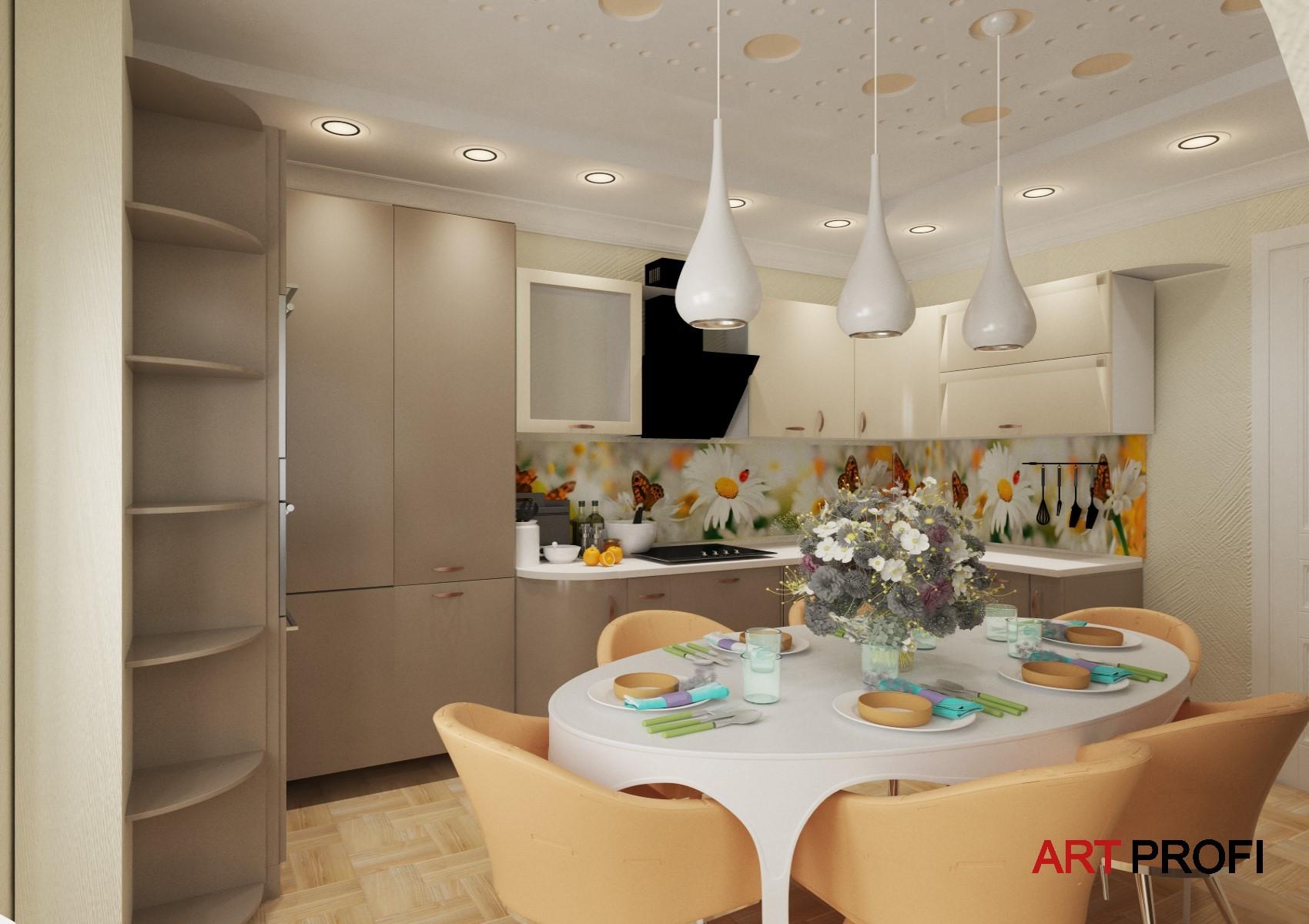 Ремонт квартир. Картинка будующей кухни.