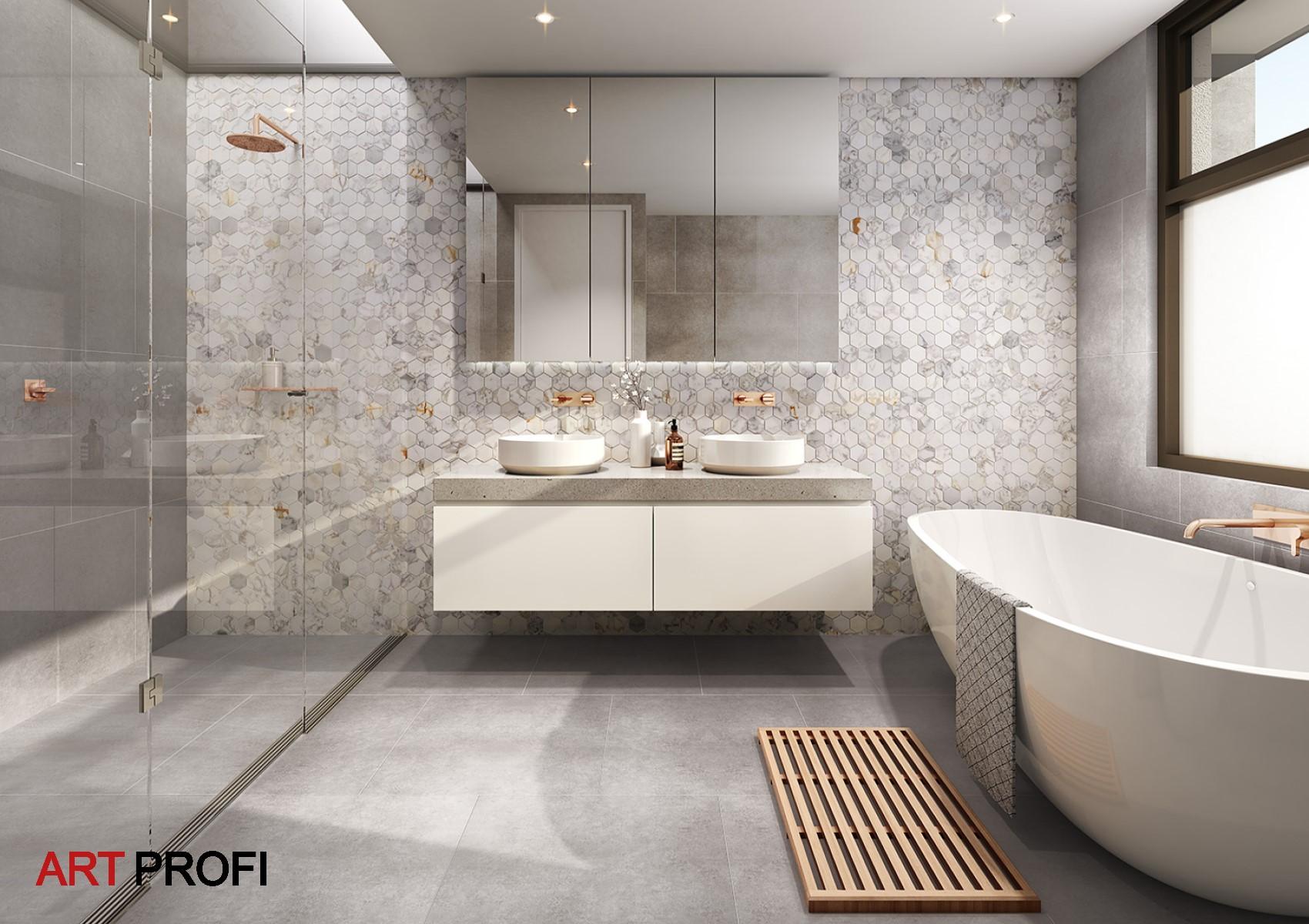 Дизайн интерьера. Дизайн проект ванной комнаты.