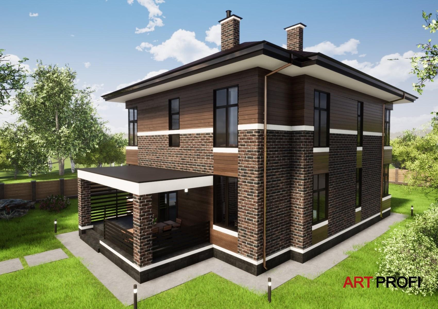Проекты домов и коттеджей. Проект дома в стиле Прерий.