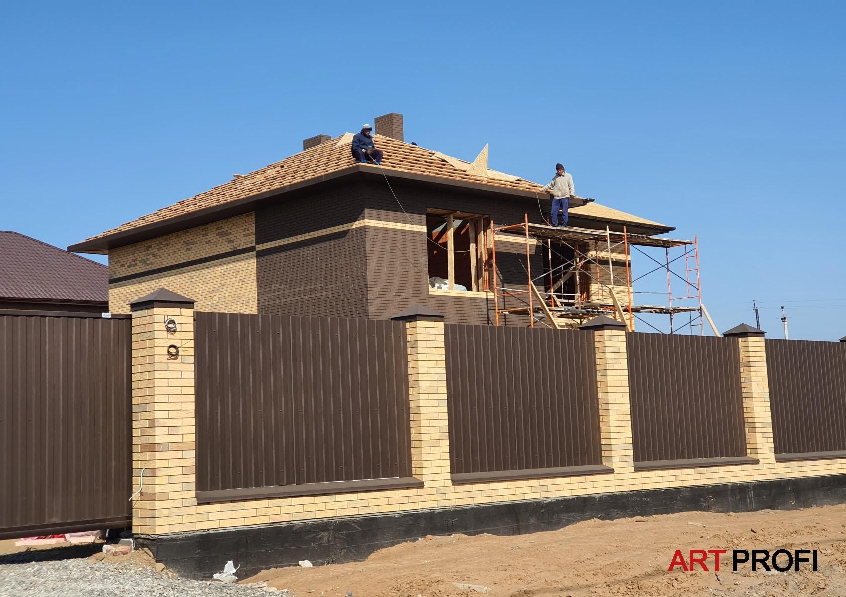 Строительство домов. Дом из Старооскольского кирпича.