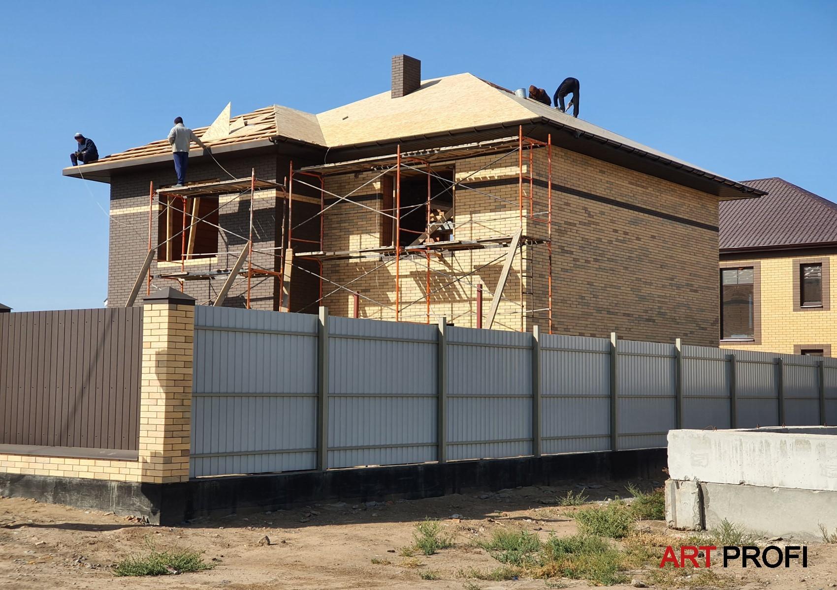 Строительство домов. Дом из кирпича флеш.